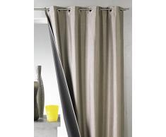 HomeMaison HM69491983 - Cortina (opaca, tejido shantung de poliéster, 140 x 260 cm), color pardo
