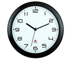 Amanecer, Reloj de pared con mecanismo de silencio, Negro (Schwarz)