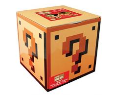 Paladone Caja Almacenaje Super Mario Bros, Metal, Amarillo, 18x18x18 cm