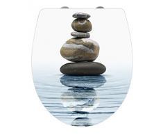 Wenko Asiento de Inodoro Meditation, Duroplast, Blanco, 45x38.8x3 cm