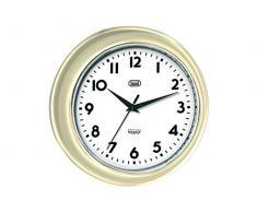 Trevi OM 3315 S - Reloj de pared diseño retro años 60`s de 33cm, color marfil
