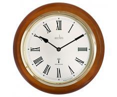 Acctim 74430 Durham - Reloj de pared, color nogal