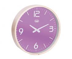 Trevi OM 3311 L Reloj de pared, Madera/Plástico, Morado, 25