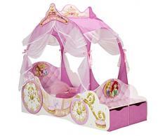 Disney 454DSN - Cama Infantil con diseño de Princesas, Tela, Rosa, Toddler (70 x 140 cm)