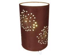 Naeve Leuchten 3035114 - Lámpara de mesa (tela, diámetro de 15cm, altura de 25cm), color marrón