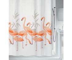 Spirella 10.16355 - Cortina de ducha de tela (180 x 200 cm), diseño de flamencos