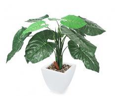 Closer To Nature - Planta taro artificial (61 cm), color verde