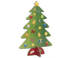 Car Bomboniere econatale Árbol de Navidad, papel cartón, multicolor, 30 x 45 x 6 cm, 4 Unidad