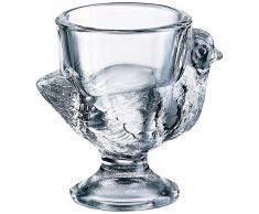 Luminarc 8849228 - Huevera en forma de gallina de cristal transparente, 3 unidades