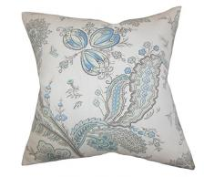 La Almohada Collection Dilys para cojín, diseño de Flores, Color Azul