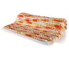 Spirella colección Kito, Alfombrilla de Ducha 55 x 65,80% Polyester, Microfibra, 20% Algodón,Multicolor, Rojo (Sunset), 65 x 55 x 17,5 cm