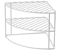 Compactor Estante Tazas, Metal, Blanco, Talla Unica