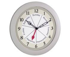 Acctim 21817 Lisbon Reloj de pared, color plateado