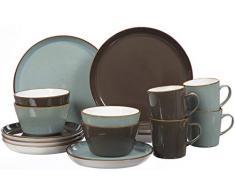 Ritzenhoff & Breker 277241 Servicio de mesa, piedra, Azul claro/marrón