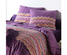 C Textiles para el hogar Diseño ARTE 2582 esencial púrpura duvet cover set 240 x 220 cm 2 almohada almohada 65 x 65 cm Ciruela Algodón