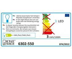 Konstsmide 6302-550 - Mini guirnalda de bombillas led (35 diodos rojos, 230 V, para interior, cable verde), diseño retro