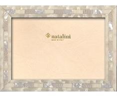 Natalini QH20Bianco 13X18 Marco de Fotos con Soporte para Mesa, Madera, Blanco, 13 X 18 X 1,5