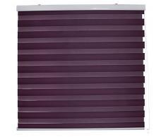 Blindecor Vela - Estor enrollable doble tejido, noche y día, color violeta, 100 x 180 cm