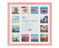 Inov8 16 x 40,64 cm Insta-Frame Marco para Instagram 13/de Estampado a Cuadros de Fotos con paspartú Blanco y Blanco con Borde, 2 Unidades, Rosas