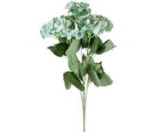 Better & Best Ramo de Flores Artificiales de Hortensia, Tela y Plástico, Azul, 60x20x20 cm, 7 Unidades