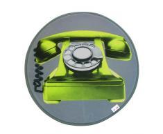 D&Co - 1680099, Tapete Terciopelo Redondo , 60 Cm , Phone , Terciopelo Estampado