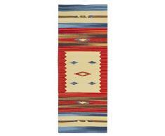 Jute & Co Kilim - Alfombra tapete (algodón de alta calidad, tejido a mano, 60 x 160 cm), multicolor