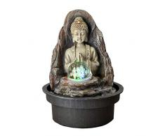 ZenLight Fuente Peace Resina, Bronce, 15 x 15 x 21 cm