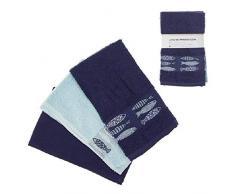DCASA Juego 3 Referencia DC Paños y Toallas de Cocina Textiles del hogar Unisex Adulto, Color, 50x50x0