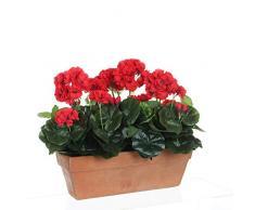MICA Decorations Geranium - Jardinera para balcón (39 x 13 x 40 cm), Color Rojo