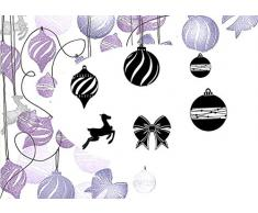 Card-io - Sello para Estampar, diseño de Bolas de Navidad