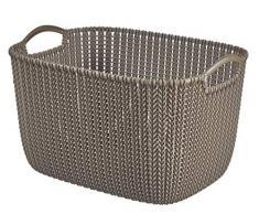 Curver 3253923970135 caja y cesta de almacenaje - cajas y cestas de almacenaje (Storage basket, Marrón, Prendas de punto, Monótono, Rectangular, Interior)