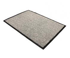 Floortex Doortex - Felpudo para interior con revestimiento antideslizante, Gris, 120 x 300 cm