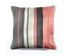 Fusion - Cojín Relleno (100% algodón, 43 x 43 cm), Color Rosa