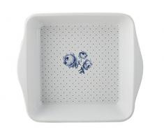 Katie Alice Fuente para horno, diseño cuadro de flores de índigo, color azul