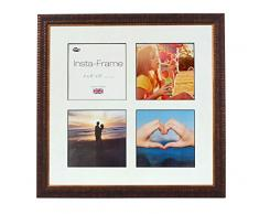 Inov8 16 x 40,64 cm Insta-Frame Marco para Instagram 4/de estampado a cuadros de fotos con paspartú blanco y negro con borde, Ripple marrón