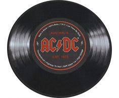 Desconocido AC/DC Schallplatte 67 Alfombra, Poliéster, Azul, 40 x 60 x 2 cm