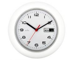Acctim Reloj de pared con calendario, color blanco