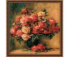 RIOLIS - Juego de punto de cruz, diseño de ramo de rosas