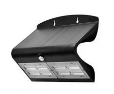 LUCECO LEXS80W40-01 - Foco de pared solar guardian pir ip44 blanco 6.8W 750lm 4000k