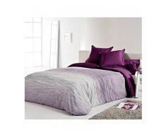 Reig Martí Chil - Juego de funda nórdica jacquard, 3 piezas, para cama de 150 cm, color morado