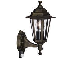 Massive Aplique 715220142 - Iluminación al aire libre (Aplique de pared para exterior, Negro, Aluminio, Sintético, IP44, Jardín, Patio, I)