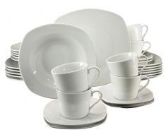 Creatable, Dinner Ware Set, 19512, Amelie Weiss, Juego de Mesa (30 Piezas), Porcelana, Blanco, 34.4 x 29.2 x 35 cm