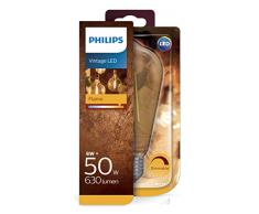 Philips Lighting pera Bombilla LED forma, filamento/vintage, E27, luz blanca cálida, 7 W