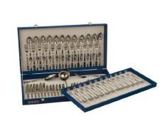 Monix Oslo - Set 87 piezas cubiertos de acero inox 18/10, estuche y cuchillo normal