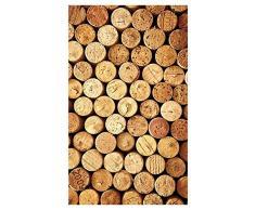 Huella Deco Textures & Pictures Alfombra Carpet Mat Floor, vinilo, 70 x 123 cm