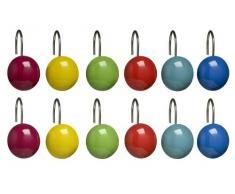 Premier Housewares - Enganches para cortina de ducha (cerámica, 12 unidades), varios colores