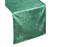 Eurofirany - Camino de Mesa, decoración de Mesa, Mantel de Navidad, decoración de Mesa, Verde Oscuro, 40 x 140 cm