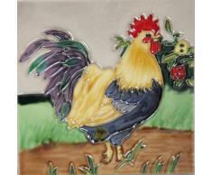 YH-Arts gallo 1 azulejos de cerámica, multicolor, 6 x 15,2 cm)