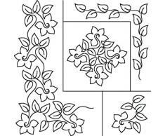 Sten Fuente Quilt plantillas Por Patricia Ritter, 17 x 20 in, Narciso