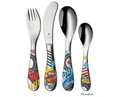 WMF Disney Cars 2 - Cubertería para niños 4 piezas (tenedor, cuchillo de mesa, cuchara y cuchara pequeña) (WMF Kids infantil)